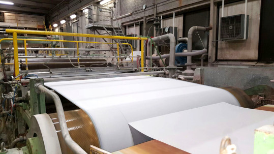 The paper being dried